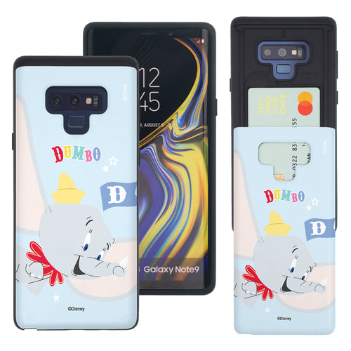 Galaxy Note9 Case Disney Dumbo Slim Slider Card Slot Dual Layer Holder Bumper Cover - Dumbo Fly
