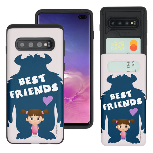 Galaxy S10 Plus Case (6.4inch) Monsters University inc Slim Slider Card Slot Dual Layer Holder Bumper Cover - Simple Boo