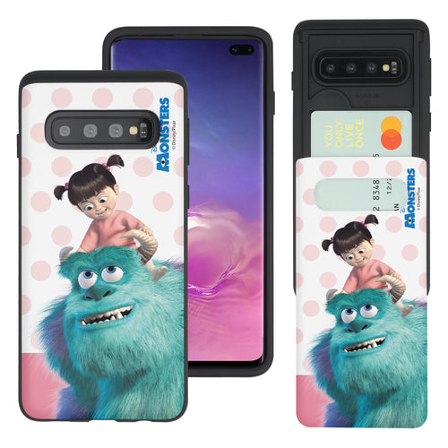 Galaxy S10 Plus Case (6.4inch) Monsters University inc Slim Slider Card Slot Dual Layer Holder Bumper Cover - Movie Boo