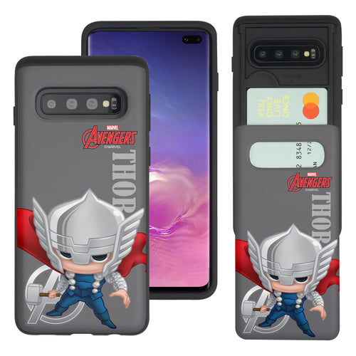 Galaxy S10 5G Case (6.7inch) Marvel Avengers Slim Slider Card Slot Dual Layer Holder Bumper Cover - Mini Thor