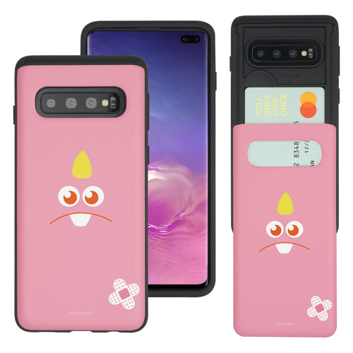 Galaxy S10 Case (6.1inch) Monsters University inc Slim Slider Card Slot Dual Layer Holder Bumper Cover - Face George Hairless