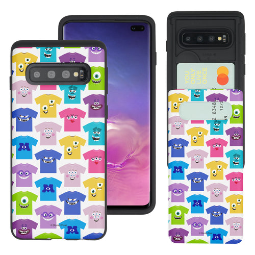 Galaxy S10 Plus Case (6.4inch) Monsters University inc Slim Slider Card Slot Dual Layer Holder Bumper Cover - Pattern Shirts