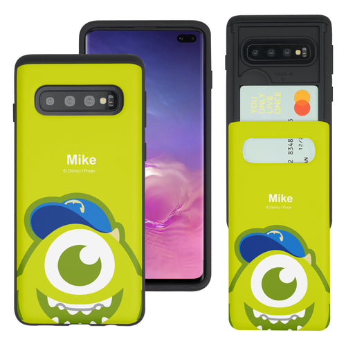 Galaxy S10 Case (6.1inch) Monsters University inc Slim Slider Card Slot Dual Layer Holder Bumper Cover - Big Mike
