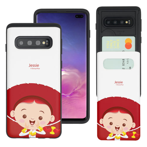 Galaxy S10 Case (6.1inch) Toy Story Slim Slider Card Slot Dual Layer Holder Bumper Cover - Baby Jessie