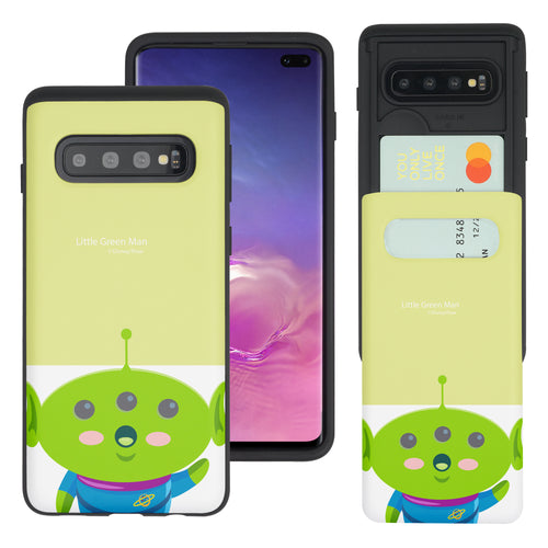 Galaxy S10 Case (6.1inch) Toy Story Slim Slider Card Slot Dual Layer Holder Bumper Cover - Baby Alien