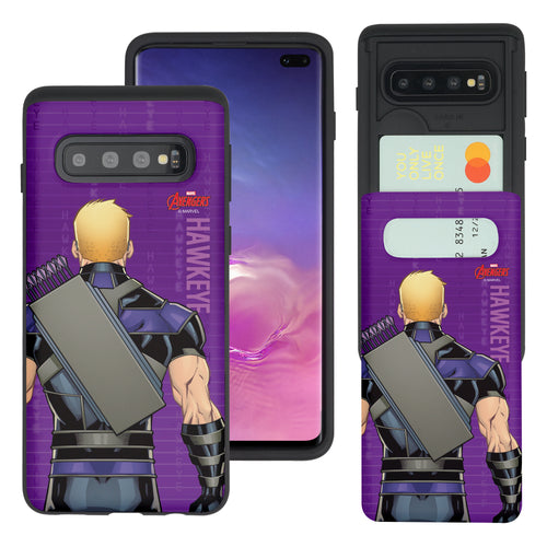 Galaxy Note8 Case Marvel Avengers Slim Slider Card Slot Dual Layer Holder Bumper Cover - Back Hawkeye