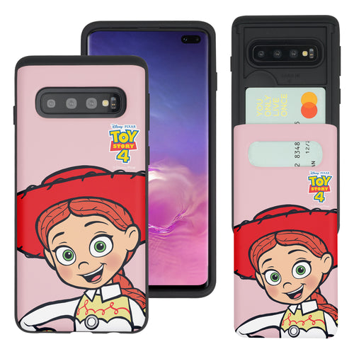 Galaxy S10 Case (6.1inch) Toy Story Slim Slider Card Slot Dual Layer Holder Bumper Cover - Wide Jessie