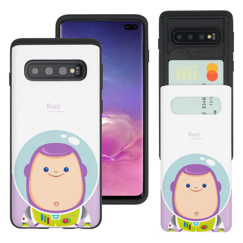 Galaxy S10 Plus Case (6.4inch) Toy Story Slim Slider Card Slot Dual Layer Holder Bumper Cover - Baby Buzz