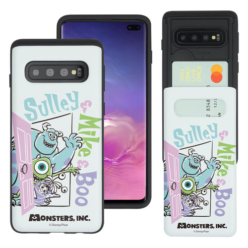 Galaxy S10 Case (6.1inch) Monsters University inc Slim Slider Card Slot Dual Layer Holder Bumper Cover - Cartoon Boo