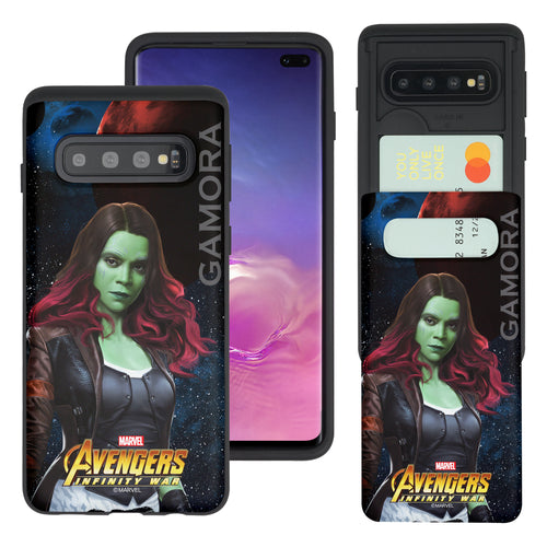 Galaxy S10 5G Case (6.7inch) Marvel Avengers Slim Slider Card Slot Dual Layer Holder Bumper Cover - Infinity War Gamora
