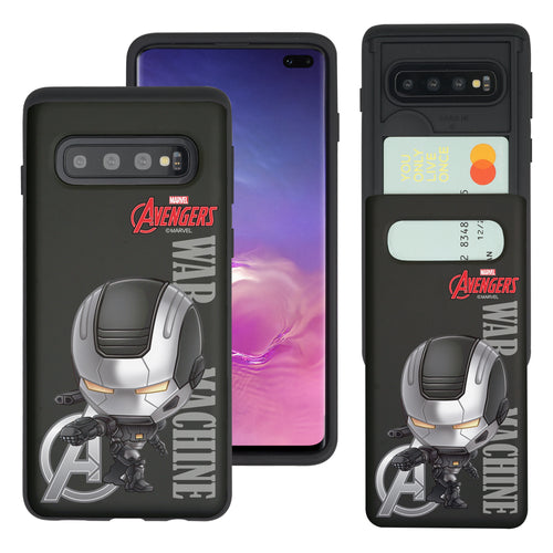 Galaxy S10 5G Case (6.7inch) Marvel Avengers Slim Slider Card Slot Dual Layer Holder Bumper Cover - Mini War Machine