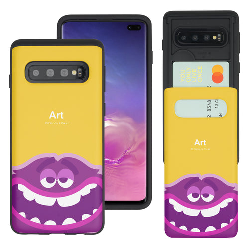 Galaxy S10 Plus Case (6.4inch) Monsters University inc Slim Slider Card Slot Dual Layer Holder Bumper Cover - Big Art
