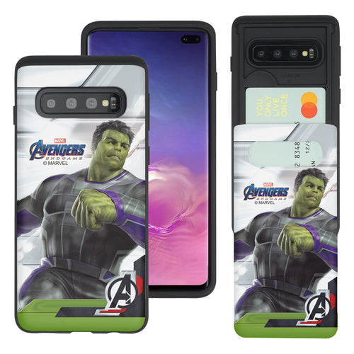 Galaxy S10 5G Case (6.7inch) Marvel Avengers Slim Slider Card Slot Dual Layer Holder Bumper Cover - End Game Hulk