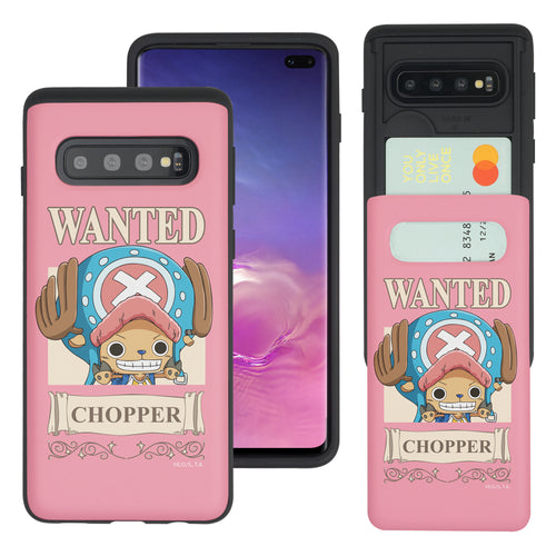 Galaxy S10 5G Case (6.7inch) ONE PIECE Slim Slider Card Slot Dual Layer Holder Bumper Cover - Mini Chopper