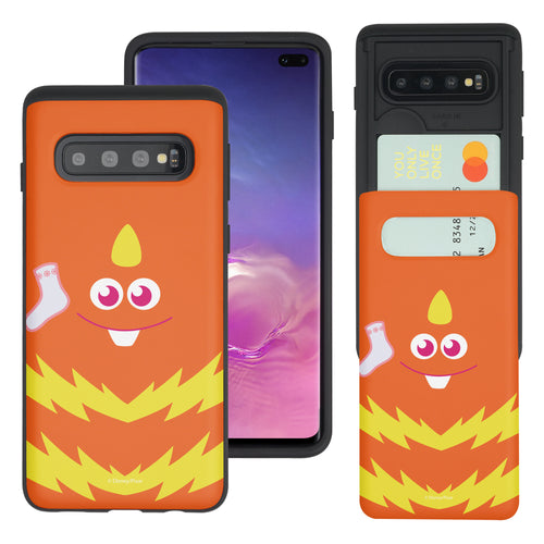 Galaxy S10 Case (6.1inch) Monsters University inc Slim Slider Card Slot Dual Layer Holder Bumper Cover - Face George Socks