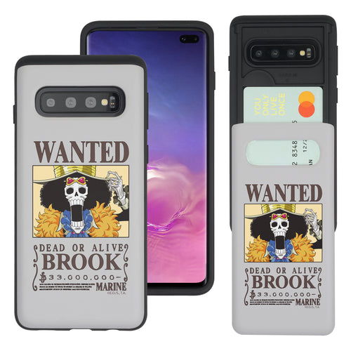 Galaxy S10 5G Case (6.7inch) ONE PIECE Slim Slider Card Slot Dual Layer Holder Bumper Cover - Look Brook