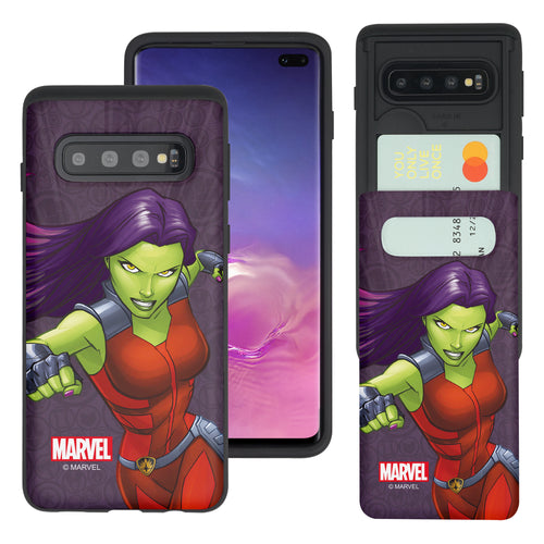 Galaxy S10 5G Case (6.7inch) Marvel Avengers Slim Slider Card Slot Dual Layer Holder Bumper Cover - Illustration Gamora