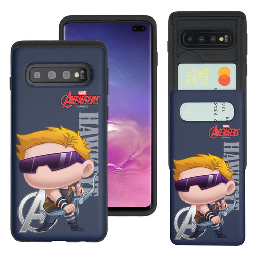 Galaxy S10 5G Case (6.7inch) Marvel Avengers Slim Slider Card Slot Dual Layer Holder Bumper Cover - Mini Hawkeye