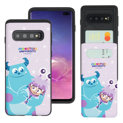 Galaxy S10 Plus Case (6.4inch) Monsters University inc Slim Slider Card Slot Dual Layer Holder Bumper Cover - Full Boo