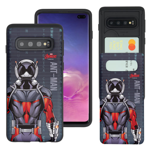 Galaxy S10 5G Case (6.7inch) Marvel Avengers Slim Slider Card Slot Dual Layer Holder Bumper Cover - Back Ant Man