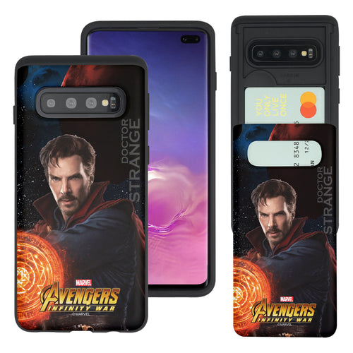 Galaxy S10 5G Case (6.7inch) Marvel Avengers Slim Slider Card Slot Dual Layer Holder Bumper Cover - Infinity War Doctor Strange