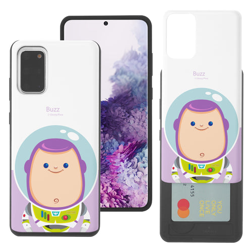 Galaxy Note20 Case (6.7inch) Toy Story Slim Slider Card Slot Dual Layer Holder Bumper Cover - Baby Buzz