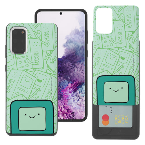 Galaxy Note20 Ultra Case (6.9inch) Adventure Time Slim Slider Card Slot Dual Layer Holder Bumper Cover - Pattern BMO Big