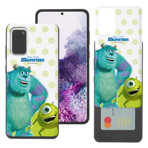 Galaxy Note20 Case (6.7inch) Monsters University inc Slim Slider Card Slot Dual Layer Holder Bumper Cover - Movie Mike Sulley