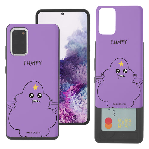 Galaxy Note20 Ultra Case (6.9inch) Adventure Time Slim Slider Card Slot Dual Layer Holder Bumper Cover - Lovely Lumpy