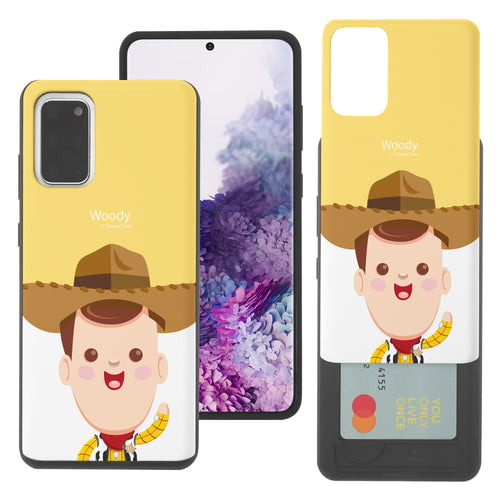 Galaxy Note20 Case (6.7inch) Toy Story Slim Slider Card Slot Dual Layer Holder Bumper Cover - Baby Woody