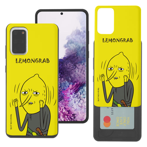 Galaxy Note20 Ultra Case (6.9inch) Adventure Time Slim Slider Card Slot Dual Layer Holder Bumper Cover - Lovely Lemongrab