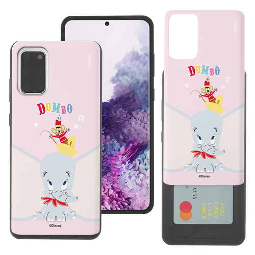 Galaxy S20 Case (6.2inch) Disney Dumbo Slim Slider Card Slot Dual Layer Holder Bumper Cover - Dumbo Overhead