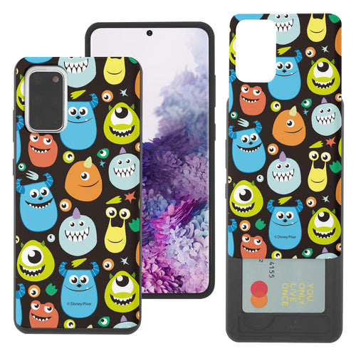 Galaxy Note20 Case (6.7inch) Monsters University inc Slim Slider Card Slot Dual Layer Holder Bumper Cover - Icon Monsters