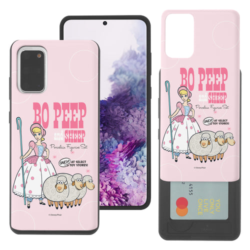 Galaxy S20 Plus Case (6.7inch) Toy Story Slim Slider Card Slot Dual Layer Holder Bumper Cover - Full Bo Peep