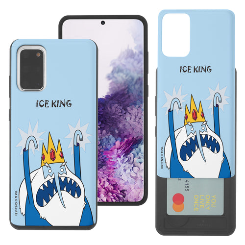 Galaxy Note20 Ultra Case (6.9inch) Adventure Time Slim Slider Card Slot Dual Layer Holder Bumper Cover - Lovely Ice King