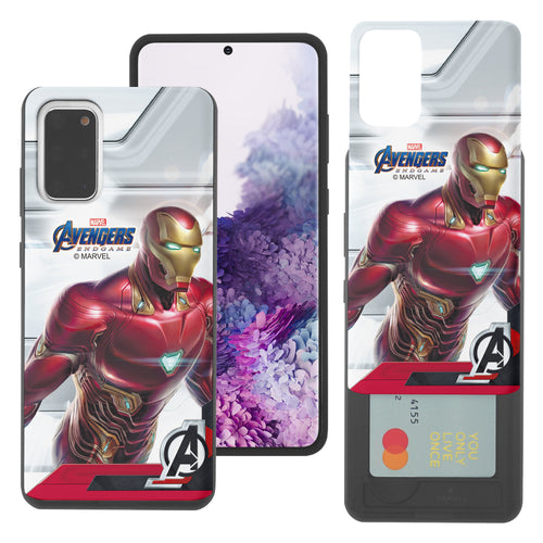 Galaxy Note20 Case (6.7inch) Marvel Avengers Slim Slider Card Slot Dual Layer Holder Bumper Cover - End Game Iron Man