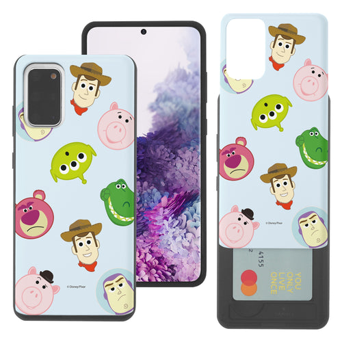 Galaxy Note20 Case (6.7inch) Toy Story Slim Slider Card Slot Dual Layer Holder Bumper Cover - Pattern Face