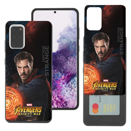 Galaxy Note20 Case (6.7inch) Marvel Avengers Slim Slider Card Slot Dual Layer Holder Bumper Cover - Infinity War Doctor Strange