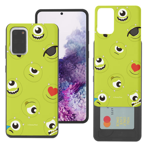 Galaxy Note20 Case (6.7inch) Monsters University inc Slim Slider Card Slot Dual Layer Holder Bumper Cover - Pattern Mike