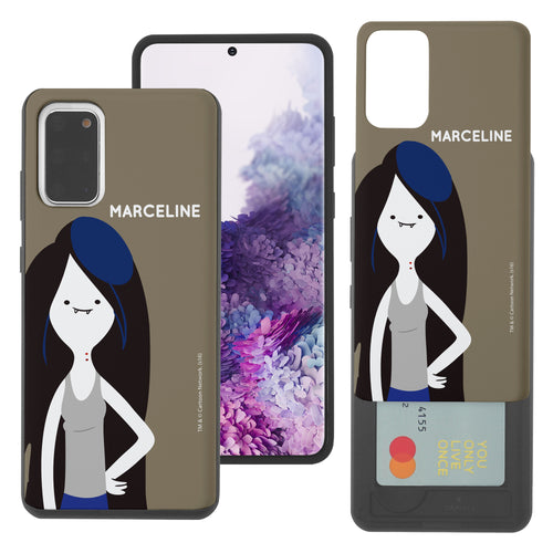 Galaxy Note20 Ultra Case (6.9inch) Adventure Time Slim Slider Card Slot Dual Layer Holder Bumper Cover - Cuty Marceline