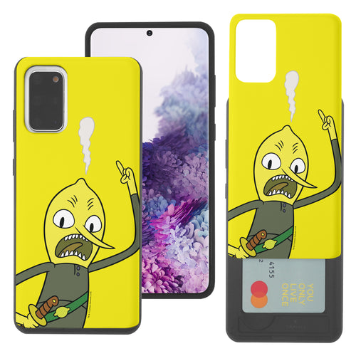 Galaxy Note20 Ultra Case (6.9inch) Adventure Time Slim Slider Card Slot Dual Layer Holder Bumper Cover - Vivid Lemongrab
