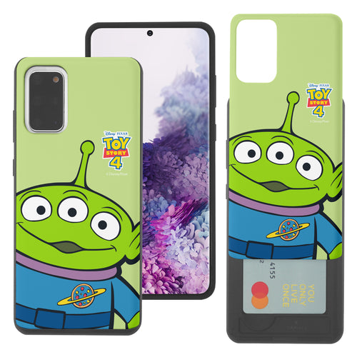 Galaxy S20 Plus Case (6.7inch) Toy Story Slim Slider Card Slot Dual Layer Holder Bumper Cover - Wide Alien