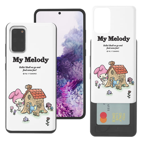 Galaxy S20 Ultra Case (6.9inch) Sanrio Slim Slider Card Slot Dual Layer Holder Bumper Cover - My Melody House