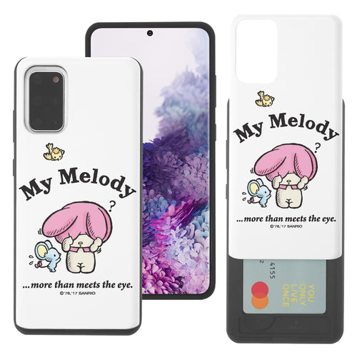 Galaxy S20 Ultra Case (6.9inch) Sanrio Slim Slider Card Slot Dual Layer Holder Bumper Cover - My Melody Shy