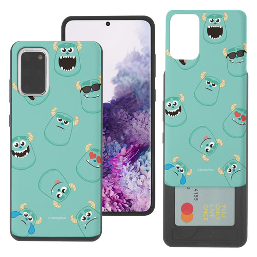 Galaxy Note20 Case (6.7inch) Monsters University inc Slim Slider Card Slot Dual Layer Holder Bumper Cover - Pattern Sulley