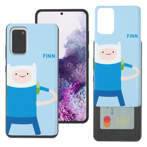 Galaxy Note20 Ultra Case (6.9inch) Adventure Time Slim Slider Card Slot Dual Layer Holder Bumper Cover - Cuty Finn