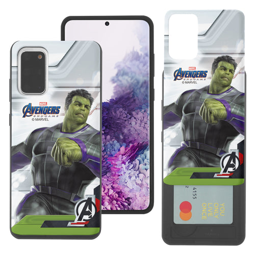 Galaxy S20 Case (6.2inch) Marvel Avengers Slim Slider Card Slot Dual Layer Holder Bumper Cover - End Game Hulk
