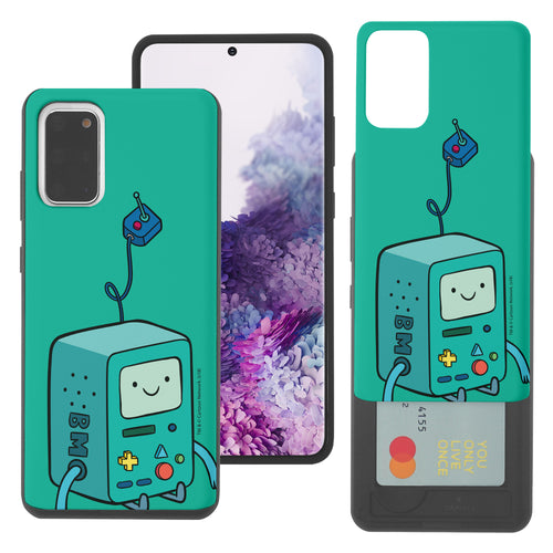 Galaxy Note20 Ultra Case (6.9inch) Adventure Time Slim Slider Card Slot Dual Layer Holder Bumper Cover - Vivid BMO