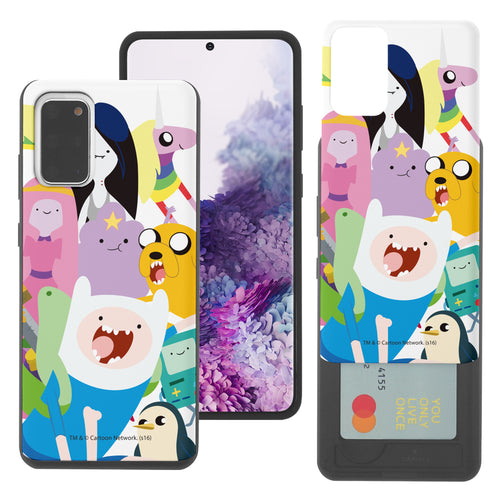 Galaxy Note20 Ultra Case (6.9inch) Adventure Time Slim Slider Card Slot Dual Layer Holder Bumper Cover - Cuty Adventure Time