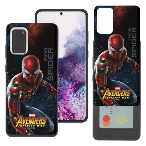 Galaxy Note20 Case (6.7inch) Marvel Avengers Slim Slider Card Slot Dual Layer Holder Bumper Cover - Infinity War Spider Man